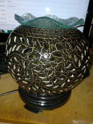 Đèn xông tinh dầu gốm sứ nâu 002